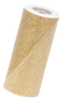 Offray Sparkle Tulle Craft Ribbon, 6-Inch by 25-Yard Spool,