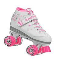 Roller Derby Girls Sparkle Lighted Wheel Roller Skate, White