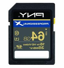 PNY Professional X 64 GB High Speed SDXC CL10 UHS-1 Rated