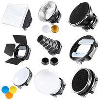 Neewer Pro  Speedlite Flash Accessories Kit with Barndoor,