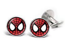 Spiderman Cufflinks, Spider-Man Tie Clip Tack, Avengers