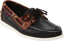 Sebago Men's Spinnaker Shoe,Black/Brown,11 W US
