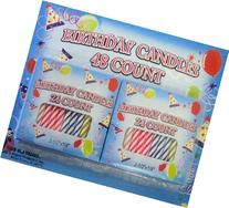 Spiral Birthday Candles 48 Count