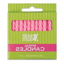 Oasis Supply Spiral Birthday Candles, 2.25-Inch, Pink