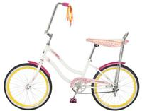 Schwinn Girl's 20-Inch Spirit Banana Seat Polo Bike, White