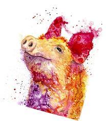 The Spirit of Pig hand-signed fine art print by Ellen
