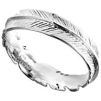 Spiritual Embrace Feather Wrap .925 Sterling Silver Ring