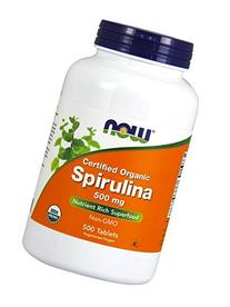 Now Foods Spirulina 500mg, Tablets, 500-Count