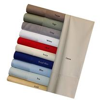 King White Silky Soft bed sheets 100% Rayon from Bamboo