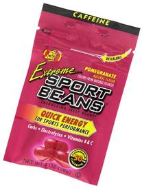 Jelly Belly Extreme Sport Beans, Caffeinated Jelly Beans, Pomegranate Flavor, 24 Pack, 1-oz Each