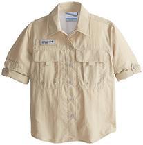 Columbia Boy's Bahama Long Sleeve Shirt , Fossil, Medium