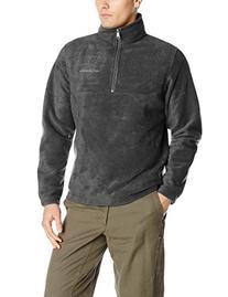 Columbia Men's Dotswarm Half Zip Jacket, Charcoal Heather,