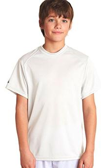Badger Sportswear Youth Short Sleeve CrewNeck T-Shirt, white