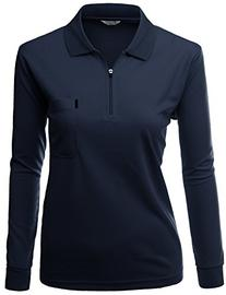 Womens Sporty Fabric left zip up style point Long Sleeve