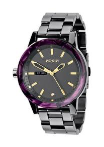 Nixon Spur Gunmetal Dial Stainless Steel Ladies Watch