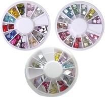 WAWO 12 Colors Square Crystal Nail Tip Decoration + Elegant