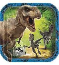Square Jurassic World Dessert Plates, 8ct