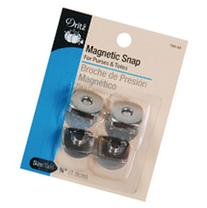 "Square Magnetic Snaps 3/4""-Nickel 2 Pair"