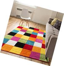 Well Woven Squares Soft Multi Geometric Accent Area Rug, 5'