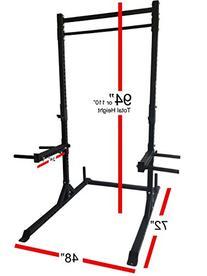 "Rep Squat Rack with Pull Up Bar - 1,000 lb Capacity â€"""