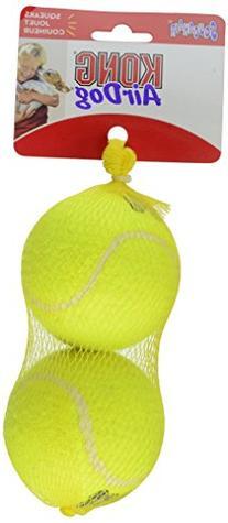 KONG Squeaker Tennis Balls, Large Dog Toy, 2-Pack