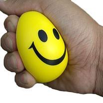 ensunpal store 6.3cm Squeeze Ball Smile Face Hand Wrist