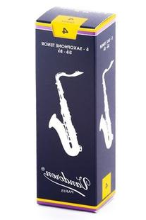 Vandoren SR224 Tenor Sax Traditional Reeds Strength 4; Box