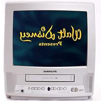 """Sylvania SRC2213 13"""" TV/VCR Combo, Silver + 12 Disney VHS"""