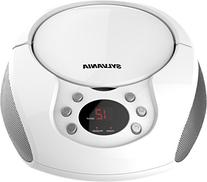 Sylvania SRCD261-C-WHITE Portable CD Boombox with AM/FM