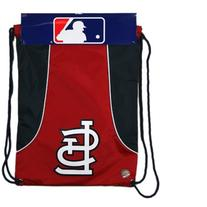 St. Louis Cardinals Red-Navy Blue Axis Drawstring Backpack