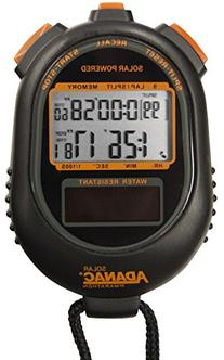 MARATHON ST083020 Dual Power Solar Stopwatch with Lap and