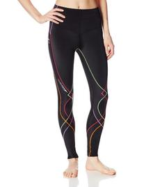 CW-X Women's Stabilyx Tights, Black/Rainbow, Small