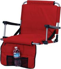 Picnic Plus Stadium Seat With Arms, Straps To Bench &
