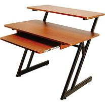 On Stage WS7500 Wood Workstation - Rosewood, Black Steel