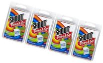 Shout Stain Remover Wipes, Travel Size - 4 ct - 4 pk