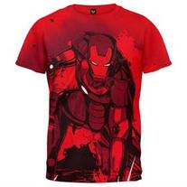 Iron Man - Stained Back All-Over T-Shirt
