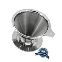Pour Over Coffee Dripper Reusable Stainless Steel Coffee