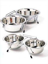 Stainless Steel Boxed Pet Dishes