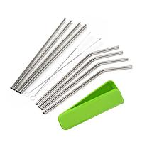 Mudder 8 Pack Stainless Steel Drinking Straws with Cleaning