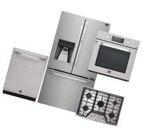"""4-Piece Stainless Steel Kitchen Package with LSFXC2476S 36"""""""