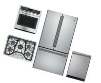 """4 Piece Stainless Steel Kitchen Package With CWE23SSHSS 36"""""""