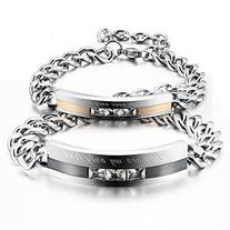 "Opk Jewelry Stainless Steel "" you are my only Love"" Link"