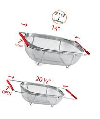 Stainless Steel Mesh Sink Basket, 18/8 Quality Stainless-