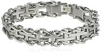 Men's Stainless Steel Railroad Bracelet