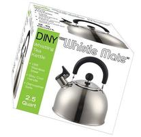 Stainless Steel Whistling Kettle 2.5qt/2.37l Hot Water Tea