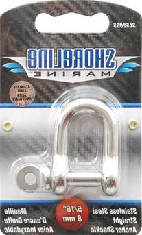 Shoreline Marine Stainlesss Steel Shackle Straight, 5/16-