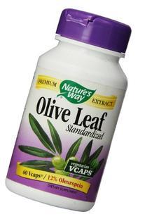 Natures Way Standardized Olive Leaf, 500mg 60 Vegetarian