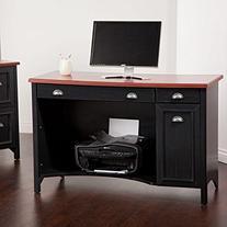 Stanford Computer Desk in Antique Black
