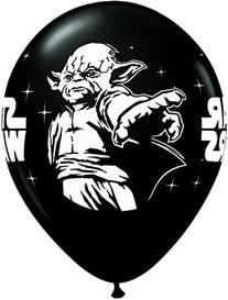 "25 Count Star Wars Latex Balloons, 11"", Onyx Black"