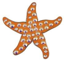 Navika Starfish Swarovski Crystal Ball Marker with Hat Clip
